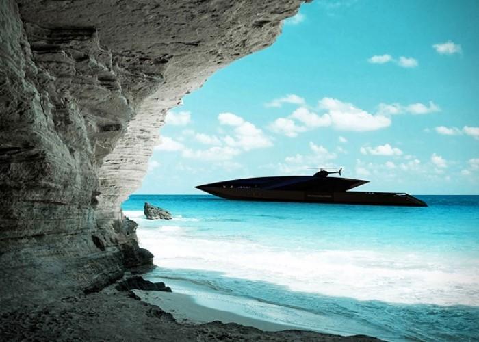 """Ý tưởng ra mắt du thuyền Black Swan được bắt nguồn từ mong muốn ứng dụng công nghệ hiện đại để """"định nghĩa"""" lại các trải nghiệm du lịch trên biển. Tại đây, du khách sẽ được tận hưởng một không gian sang trọng, đẳng cấp với nhiều hoạt động thú vị. Ảnh: yachtharbour"""