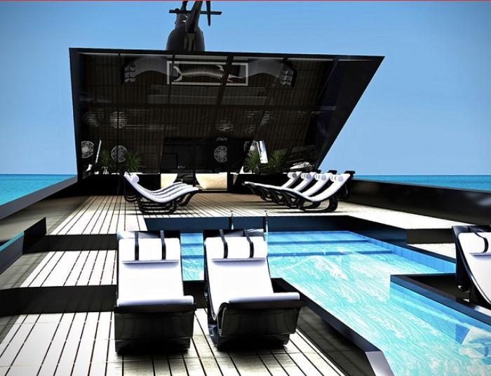du thuyền Black Swan động cơ Bên cạnh không gian đẳng cấp, du tuyền Thiên Nga Đen cũng sở hữu khả năng vận hành mạnh mẽ. Bốn động cơ của tàu có khả năng quay vòng lên đến 23.172 mã lực, cung cấp nhiên liệu lến tới 183.000 lít và tốc độ khoảng 20 hải lý / giờ, với tốc độ tối đa là 28. Thêm vào đó, một bồn chứa nước cung cấp 38.600 lít nước ngọt đảm bảo dễ dàng chinh phục nhiều hải trình xa xôi hơn so với các đối thử cùng phân khúc.