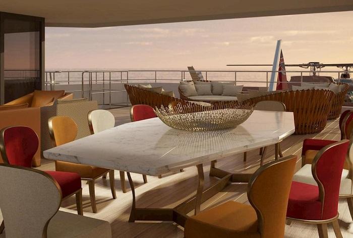 du thuyền La Datcha nội thất