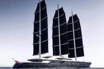 Chiêm ngưỡng siêu du thuyền Black Pearl được mệnh danh như 'ngọc trai đen' giữa đại dương