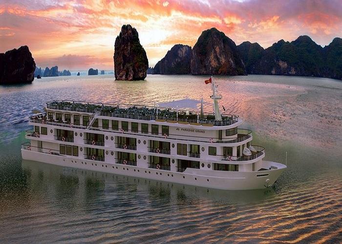 Thuê tàu thăm vịnh Hạ Long: Paradise 5 sao
