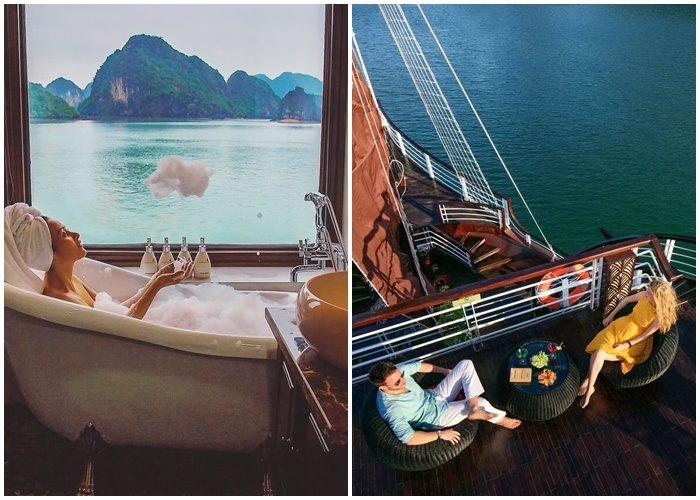 Check-in du thuyền Perla Dawn Sails Cát Bà ngắm vẻ nên thơ của vịnh Lan Hạ