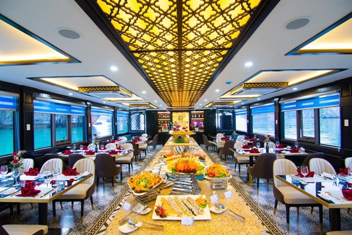 The restaurant design is very modern.
